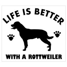 Rottweiler breed Design Wall Art Poster