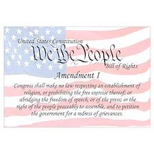 Amendment I and Flag Wall Art