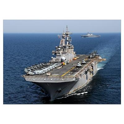 USS Essex transits off the coast of northeastern J Poster