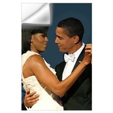 Michelle and Barack Obama Wall Art Wall Decal