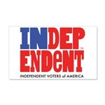 Independent Voters of America 22x14 Wall Peel