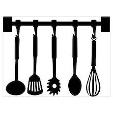 Kitchen equipment Wall Art Poster