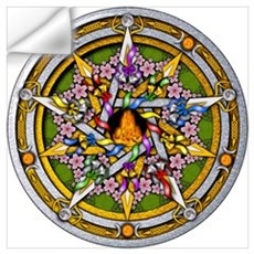 Beltane Pentacle Wall Art Wall Decal