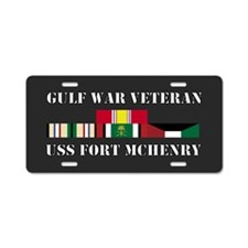 USS Fort Mchenry Gulf War Veteran Aluminum License