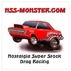 NSS-Monster Cartoon Wall Art Poster