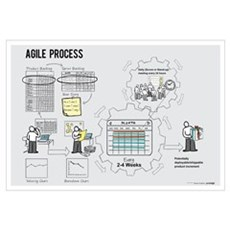 Small Agile Process Poster (Male) Canvas Art