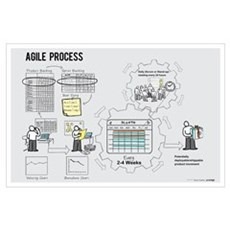 Small Agile Process Poster (Male) Poster