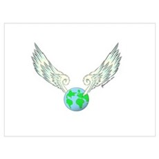 Flying Earth Wall Art Canvas Art