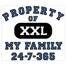 Property of Family Dad Wall Art Poster