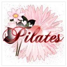 Pink PIlates Flowers by Svelte.biz Wall Art Poster