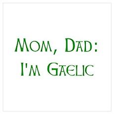 I'm Gaelic Wall Art Poster