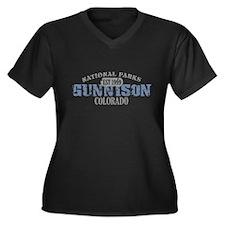 Gunnison National Park CO Women's Plus Size V-Neck