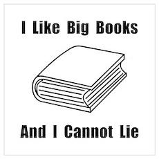 I Like Big Books Wall Art Poster