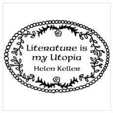 Literary Utopia Wall Art Framed Print
