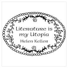Literary Utopia Wall Art Poster