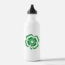 Stacked Shamrock Water Bottle