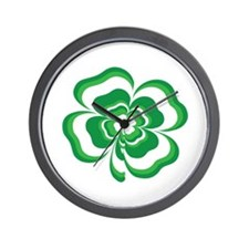 Stacked Shamrock Wall Clock