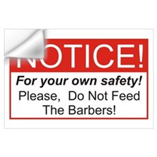 Notice / Barber Wall Art Wall Decal