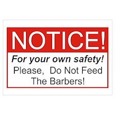 Notice / Barber Wall Art