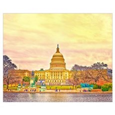 National Capitol Wall Art Framed Print
