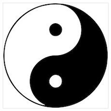 Yin Yang Symbol Wall Art Poster
