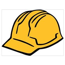 Hard hat construction helmet Wall Art Poster