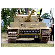 Tiger Tank Wall Art Poster