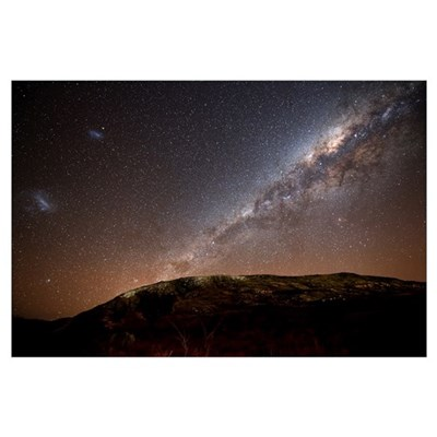 The Milky Way rising above the hills of Azul, Arge Canvas Art