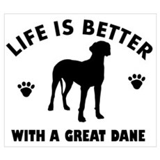 Great Dane breed Design Wall Art Poster