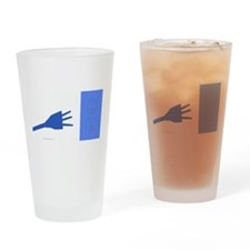 blue connectivity Drinking Glass