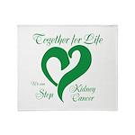 Stop Kidney Cancer Throw Blanket