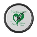Stop Kidney Cancer Large Wall Clock