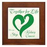 Stop Kidney Cancer Framed Tile