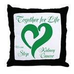 Stop Kidney Cancer Throw Pillow