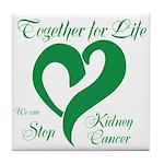 Stop Kidney Cancer Tile Coaster