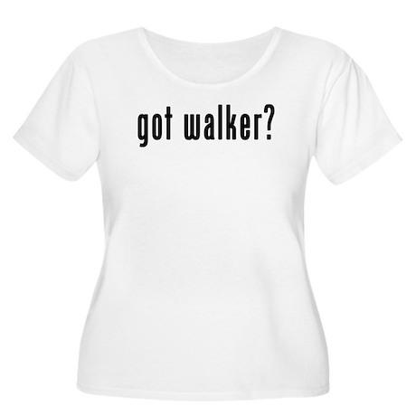 GOT WALKER Women's Plus Size Scoop Neck T-Shirt