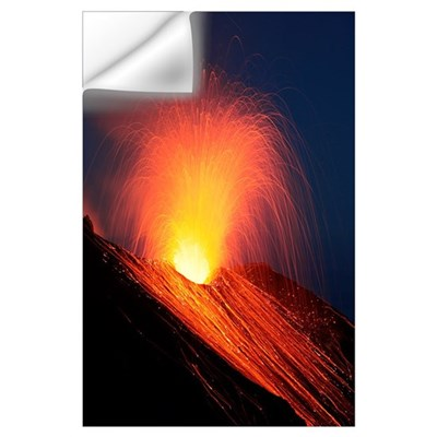 Strombolian eruption of Stromboli volcano, Aeolian Wall Decal