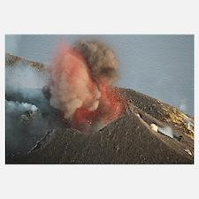 Strombolian eruption of Stromboli volcano producin