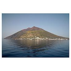 Stromboli volcano, Aeolian Islands, Mediterranean  Poster
