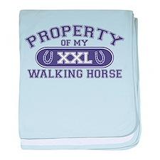Walking Horse PROPERTY baby blanket
