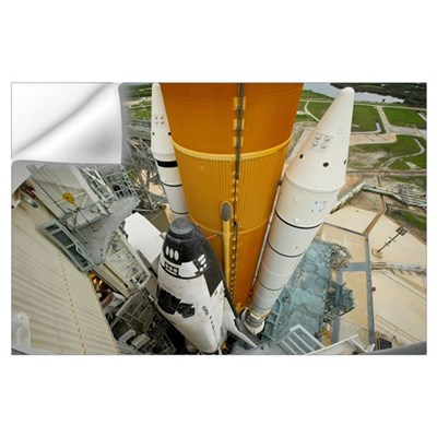 Space shuttle Atlantis on the launch pad at Kenned Wall Decal