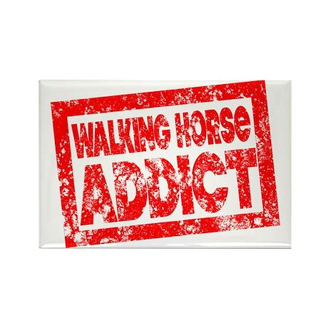 Walking Horse ADDICT Rectangle Magnet