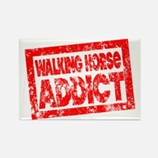Walking Horse ADDICT Rectangle Magnet