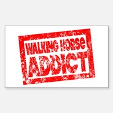 Walking Horse ADDICT Sticker (Rectangle)