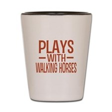 PLAYS Walking Horses Shot Glass