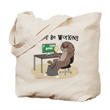 Funny Otter drawing Tote Bag
