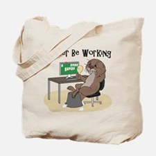 Funny Otter Tote Bag
