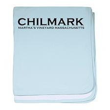 "Chilmark MA ""Lighthouse"" Design. baby blanket"