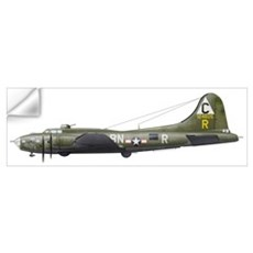 Illustration of a Boeing B-17F Knockout Dropper ai Wall Decal