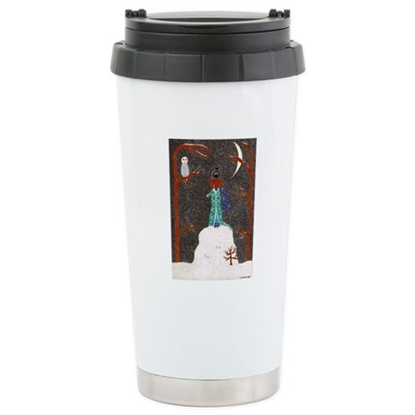 Snow Dachshund Stainless Steel Travel Mug